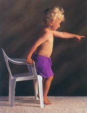 Picture of a child showing natural poise and interest in the world