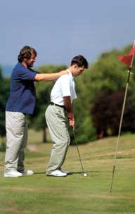 Good balance and co-ordination are vital when playing golf