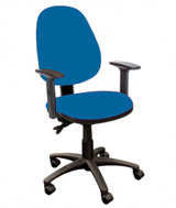 AT working seat with back