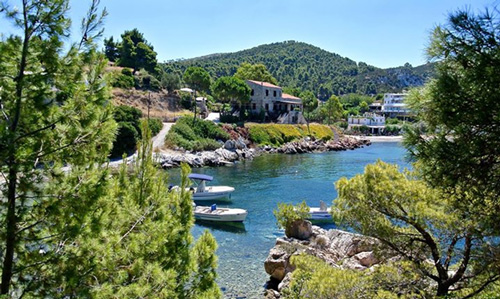 View of Greek island of Skyros